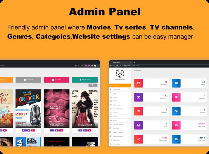 WebFlix - Movies - TV Series - Live TV Channels - Subscription - 13