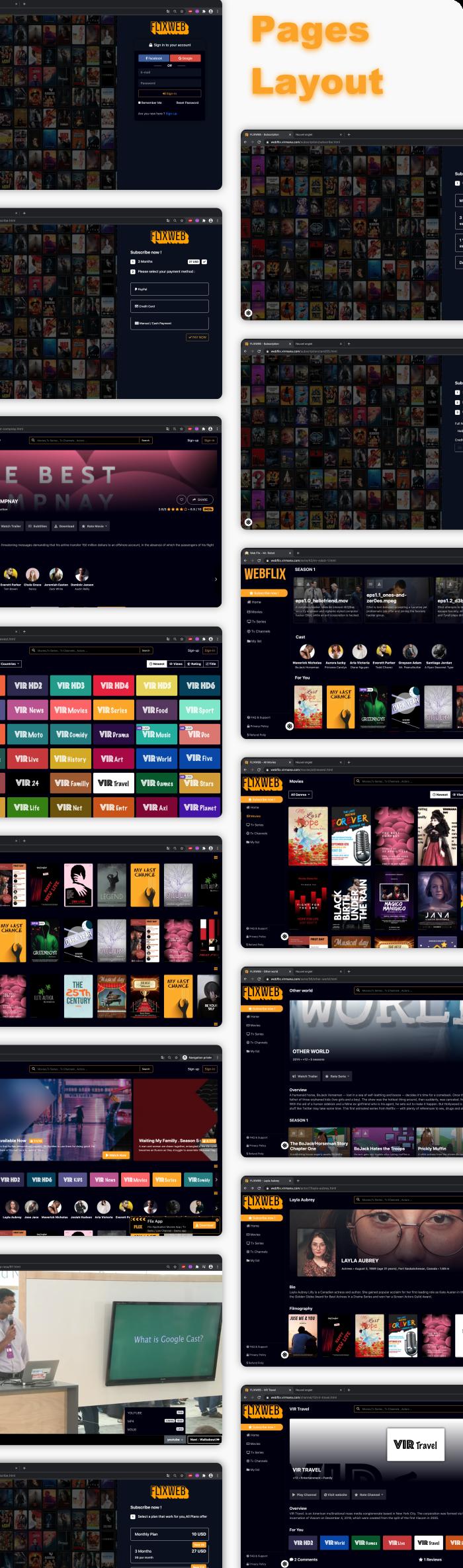 WebFlix - Movies - TV Series - Live TV Channels - Subscription - 14